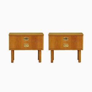 Vintage Ash Cabinets, 1960s, Set of 2