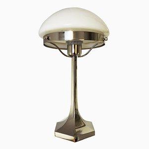 Lampada da tavolo Art Déco in acciaio inossidabile di Lustrerie Deknudt, anni '20