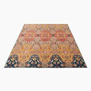 Agra Teppich aus Wolle & Seide, 1930er