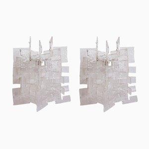 Applique Girasole Mid-Century di Carlo Nason per Mazzega, set di 2