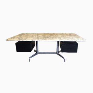 Vintage Schreibtisch aus Marmor von Charles & Ray Eames
