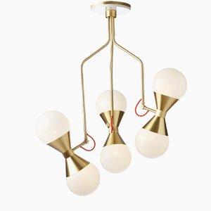 Lámpara colgante con difusores en forma de reloj de arena de Villa Lumi