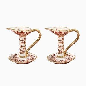 Bougeoirs en Céramique de Deruta, 1970s, Set de 2