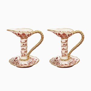 Candeleros de cerámica de Deruta, años 70. Juego de 2