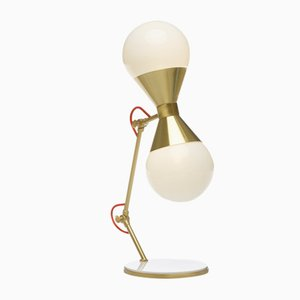 Lámpara de mesa en forma de reloj de arena de Villa Lumi