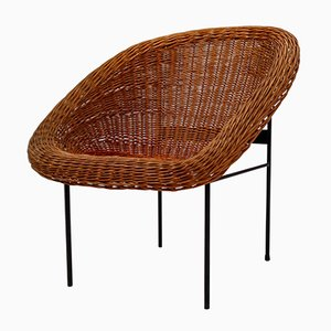Wicker Easy Chairs by Pierre Paulin, 1967, Set of 2
