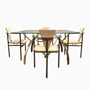 Vintage Brass Dining Set by Belgo Chrom, 1975