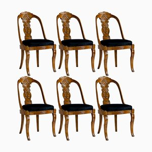 19th Century Walnut Chairs, Set of 6