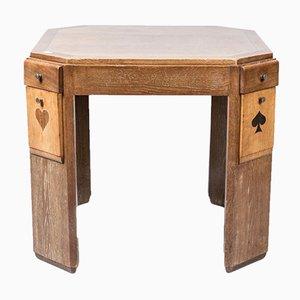 Tavolo vintage in quercia di Francisque Chaleyssin, anni '40