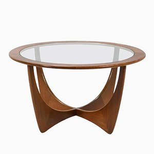 Mid-Century Afromosia & Glass Coffee Table by Victor Wilkins for G-Plan