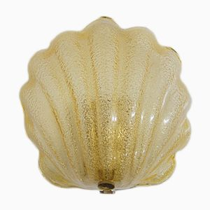 Vintage Murano Glass Shell Sconce from Solken Leuchten, 1960s