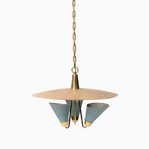 Lámpara de araña francesa Mid-Century de Mathieu Mategot, 1955