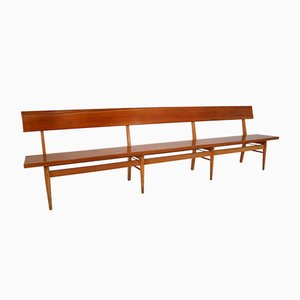 Large Mid-Century Scandinavian Wooden Bench by Ludvik Volak