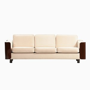Mid-Century Danish Modern Lacquered Three-Seater Sofa