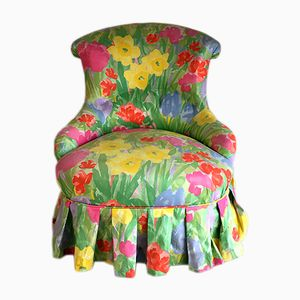 Vintage Floral Toad Chair, 1950s