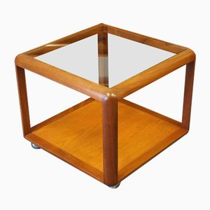 Mid-Century Cube Coffee Table with Glass Top from G-Plan