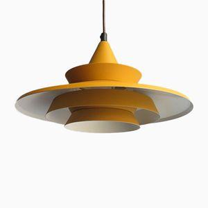 Danish Yellow Pendant Lamp from Lyskaer Belysning, 1960s