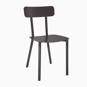 Schwarzer Picto Stuhl von Elia Mangia für STIP