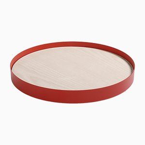 L Red RINGO Tray by Elia Mangia for STIP, 2018