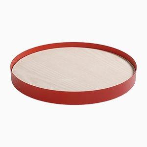 Rotes RINGO L Tablett von Elia Mangia für STIP, 2018