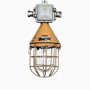Vintage Industrial Explosion Proof Bunker Lamp from EOW