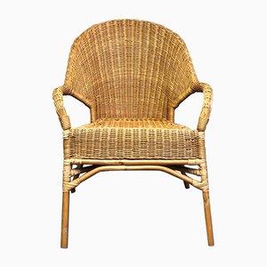 Vintage Stuhl aus Korbgeflecht