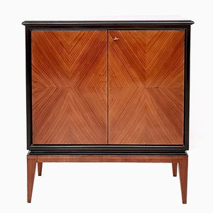 Vintage Italian Walnut and Ebonized Wood Cabinet by Gio Ponti