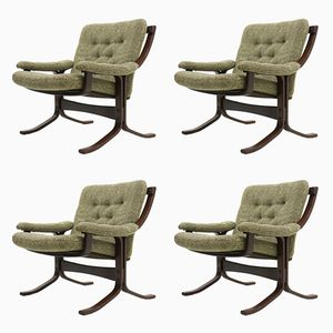 Vintage Nordic Lounge Chairs, 1970s, Set of 4