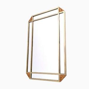 Espejo de pared de madera clara nudosa de Gianfranco Gorgoni para Turri, años 70