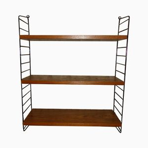 Teak Shelving Unit by Kajsa & Nils Strinning for String, 1950s