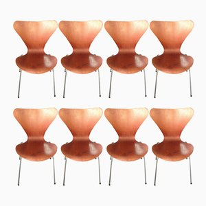Teak Side Chairs by Arne Jacobsen, 1950s, Set of 8