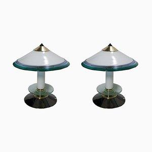 Lampade da tavolo in vetro di Murano, anni '80, set di 2