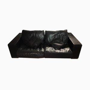 Canapé Budapest Vintage en Cuir Noir par Paola Navone pour Baxter