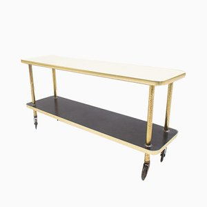 Gold, White & Black Serving Trolley, 1950s