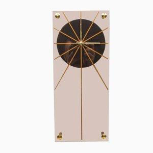 Reloj de pared de plexiglás, años 70