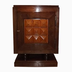 Mueble bar Art Déco de caoba de Gaston Poisson, años 40