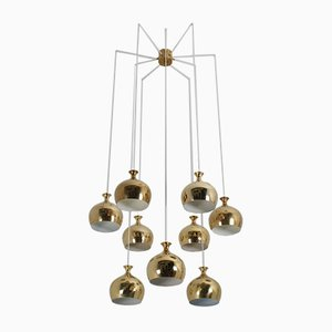 The Onion Chandelier by Helge Zimdal for Falkenbergs Belysning, 1960s