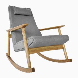 Oak Rocking Chair by Valerija Ema Cukermanienė for Vilniaus Baldų Kombinatas, 1960s