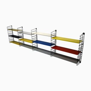 Dutch Multicolored Wall Unit by A.D. Dekker for Tomado, 1960s