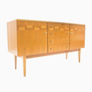 Sideboard aus Nussholz mit rechteckigem Muster, 1960er