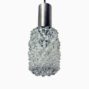Mid-Century Hängelampen aus Glas und Metall von Doria Leuchten