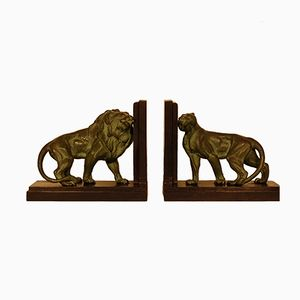 Art Deco Bookends by Louis Albert Carvin, 1930s, Set of 2