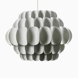 Lámpara colgante grande de metal blanco de Thorsten Orrling para Hans Agne Jakobsson, años 60