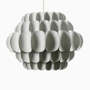 Large White Metal Pendant by Thorsten Orrling for Hans Agne Jacobsson, 1960s