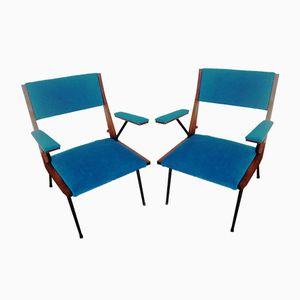 Italienische Mid-Century Armlehnstühle, 1950er, 2er Set