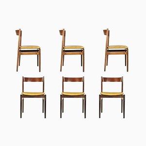 Modell 104 Esszimmerstühle von G. Frattini für Cassina, 1960er, 6er Set