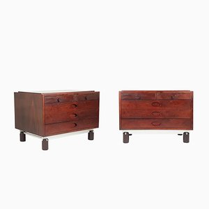 Italian Bedside Drawers by Gianfranco Frattini for Bernini, 1960s, Set of 2