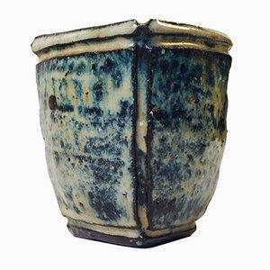 Vintage Japanese Ikebana Ceramic Vase, 1970s