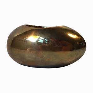 Modernist Egg Candleholder in Brass by Carl Cohr, 1950s
