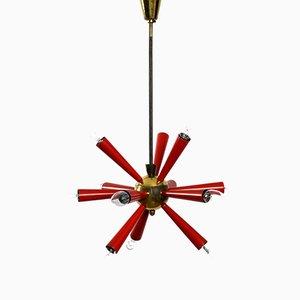 Lampada da soffitto Sputnik a 12 braccia, anni '50